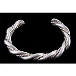 Navajo Twisted Rope Sterling Silver Bracelet