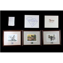 Limited U.S. Water Birds Framed Prints & Stamps