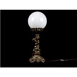 Antique Brass Cherub Leviton Electric Table Lamp