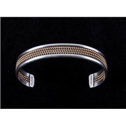 Navajo Tahe Sterling & 12K Gold Bracelet