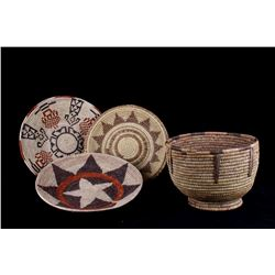Hand Woven African Tribal Baskets Set of Four