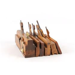 Antique Wood Plane Tools Collection of Six