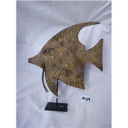 Metal Fish on Stand