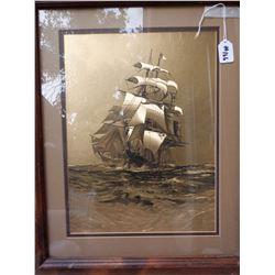 Framed Ship Picture