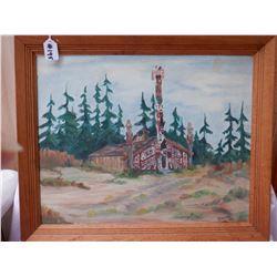 Northwest Coast Oil Painting Signed