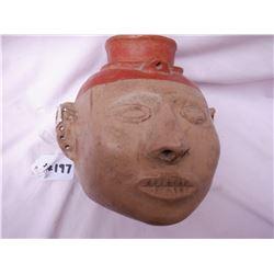 Pre-historic Quapaw Head Pot