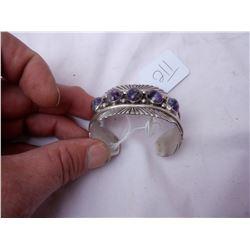 Silver and Amythest Bracelet