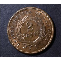 1868 2 CENT PIECE GEM BU RB