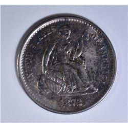 1872-S SEATED LIBERTY HALF DIME AU/BU