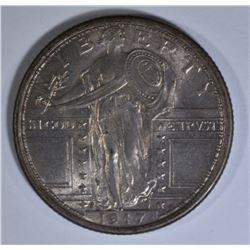 1917-S TYPE 1 STANDING LIBERTY QUARTER AU/BU