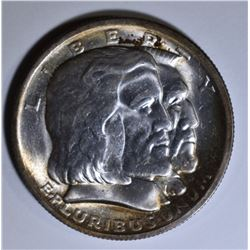 1936 LONG ISLAND COMMEM HALF DOLLAR GEM BU+