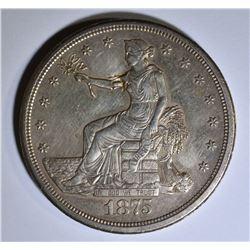 1875-S TRADE DOLLAR AU CHOP MARK