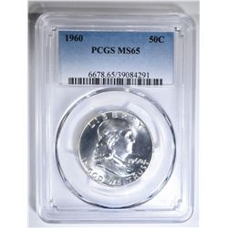 1960 FRANKLIN HALF DOLLAR PCGS MS-65