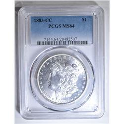 1883-CC MORGAN DOLLAR PCGS MS-64