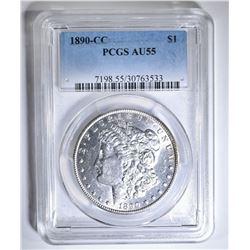 1890-CC MORGAN DOLLAR PCGS AU-55