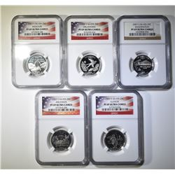 3- 2003-S SILVER STATE QUARTERS, ALL NGC PF-69