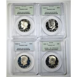 PROOF KENNEDY HALVES IN PCGS HOLDERS; 1968-S