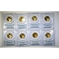 8 PCGS GRADED PRES. DOLLARS. ALL PR-69 DCAM