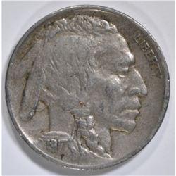 1917-D BUFFALO NICKEL  XF