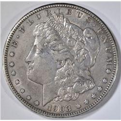 1903-S MORGAN DOLLAR  VERY CH AU