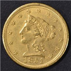 1851-O GOLD $2.5 LIBERTY  NICE BU
