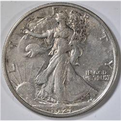 1921-D WALKING LIBERTY HALF DOLLAR  AU