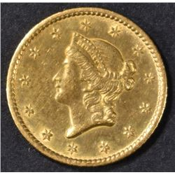 1850-O $1 GOLD LIBERTY BU  OLD CLEANING