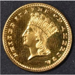 1889 $1 GOLD INDIAN PRINCESS  CH PROOF