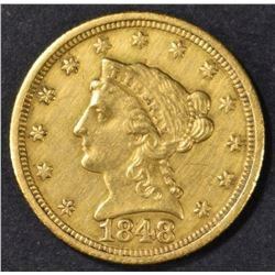 1848-C $2.5 GOLD LIBERTY  NICE BU  OLD CLEANING