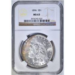 1896 MORGAN DOLLAR NGC MS-63