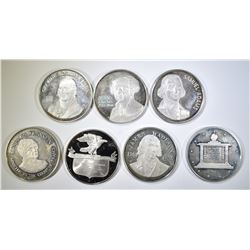7 STERLING SILVER ROUNDS  6.5 TROY OUNCES