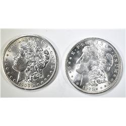 1900-O & 1921 CH/GEM BU MORGAN DOLLARS