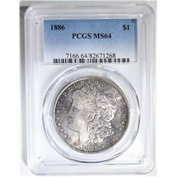 1886 MORGAN DOLLAR  PCGS MS-64
