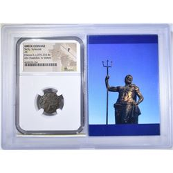 275-215 BC HIERON II AE NGC F GREEK COINAGE
