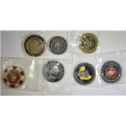 LOT OF 7 CHALLENGE COINS