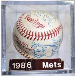 1986 NY METS WORLD CHAMPIONSHIP SIGNED BALL 23