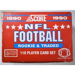 1990 SCORE NFL FOOTBALL ROOKIE & TRADED CARD SET
