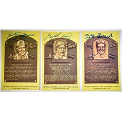 STAN MUSIAL, GAYLORD PERRY, & JIM PALMER