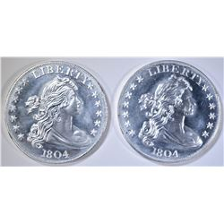 2-1804 REPLICA DOLLAR ONE OUNCE .999 SILVER ROUNDS