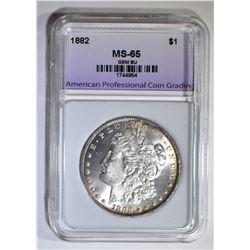 1882 MORGAN DOLLAR, APCG GEM BU
