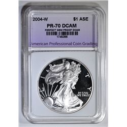 2004-W AM SILVER EAGLE APCG PERFECT GEM PROOF DCAM