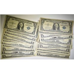 20-DECENT CIRC $1 SILVER CERTS + 3 $1 STAR NOTES