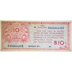 $10 SERIES 471 MILITARY PAYMENT CERTIFICATE