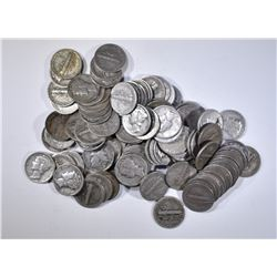 100-MIXED DATE CIRC MERCURY DIMES