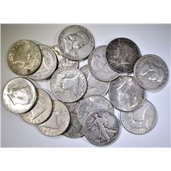 17-90% SILVER U.S. HALF DOLLARS