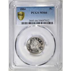 1884 LIBERTY NICKEL PCGS MS-66
