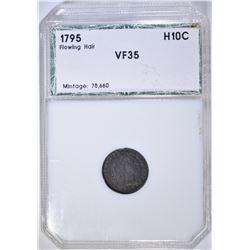 1795 FLOWING HAIR HALF DIME PCI VF/XF