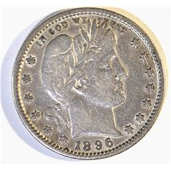 1896-S BARBER QUARTER XF