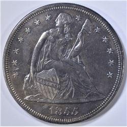 1855 SEATED LIBERTY DOLLAR AU/BU