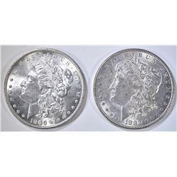 1882 BU & 96 CH BU MORGAN DOLLARS